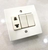 ELC- Double Interrupteur & Prise Universelle