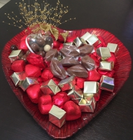 Plateau Coeur Rouge 1kg de chocolat