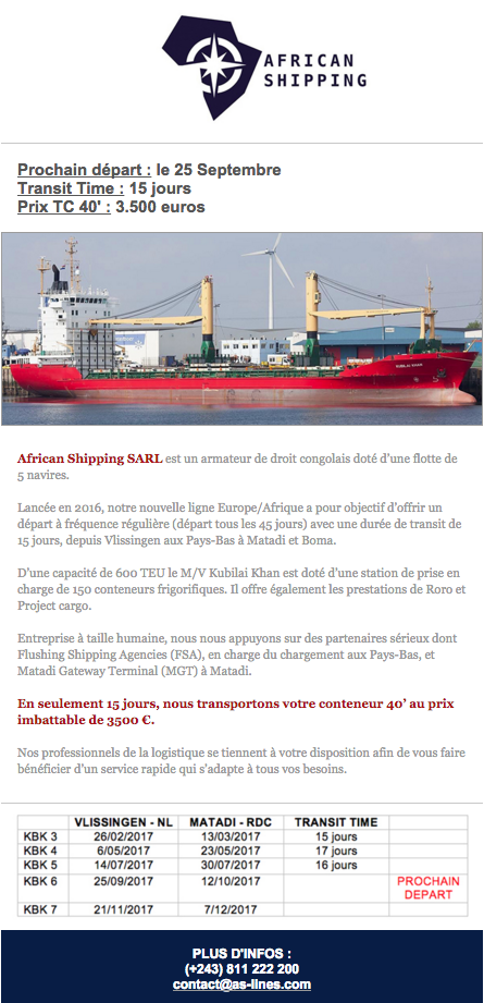 AFRICAN SHIPPING LINES