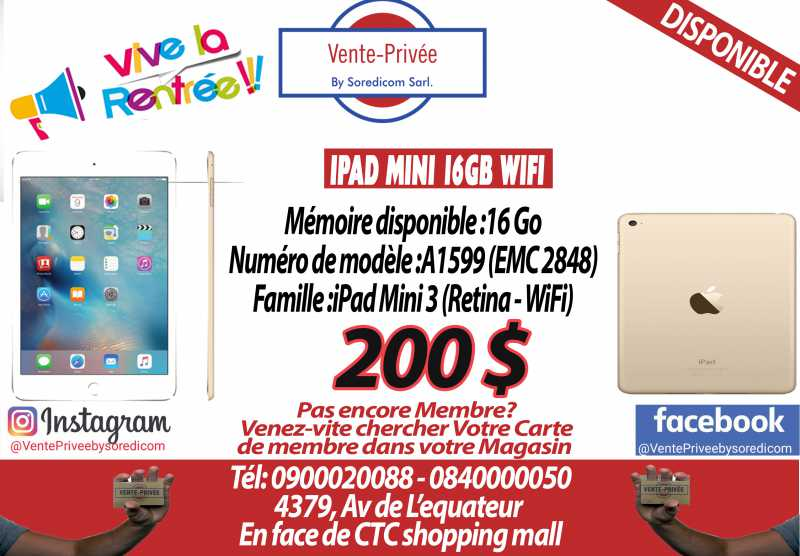 DISPONIBLE CHEZ VENTE PRIVEE