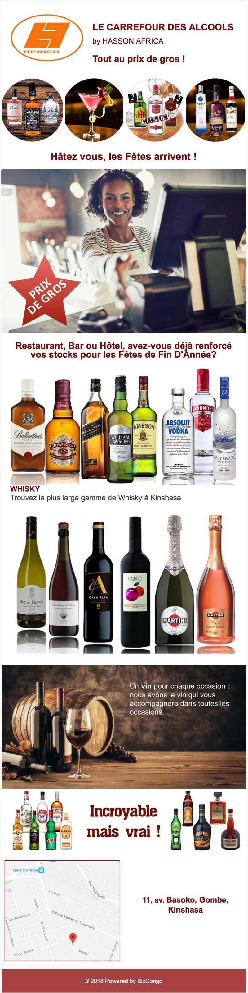 LE CARREFOUR DES ALCOOLS