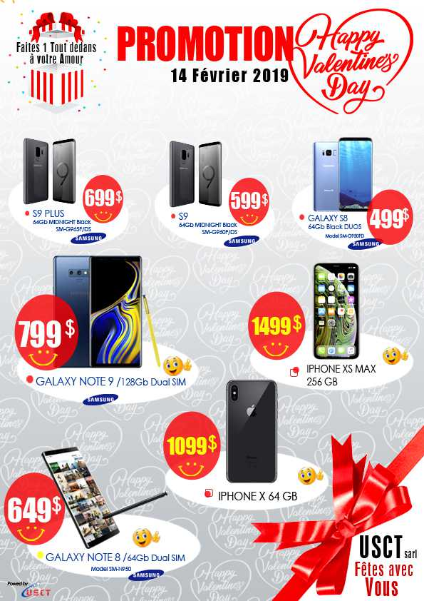 Promo St Valentin_Téléphones Samsung et Iphones